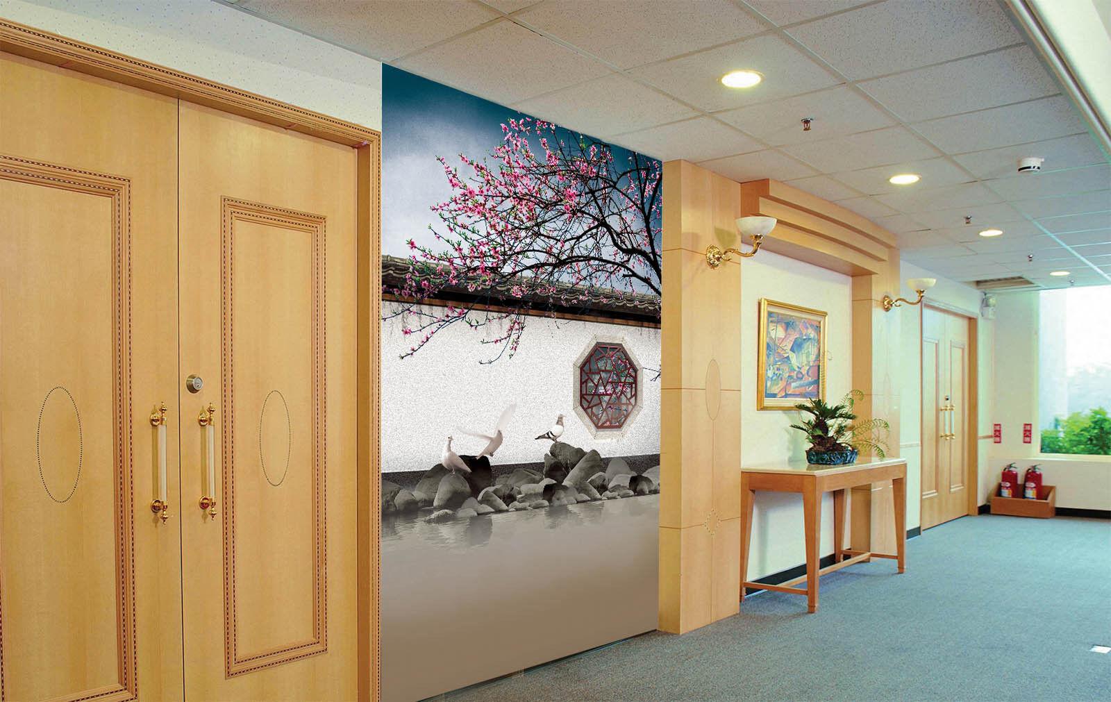 3D Garden Bird view 2832 Paper Wall Print Decal Wall Wall Murals AJ WALLPAPER GB