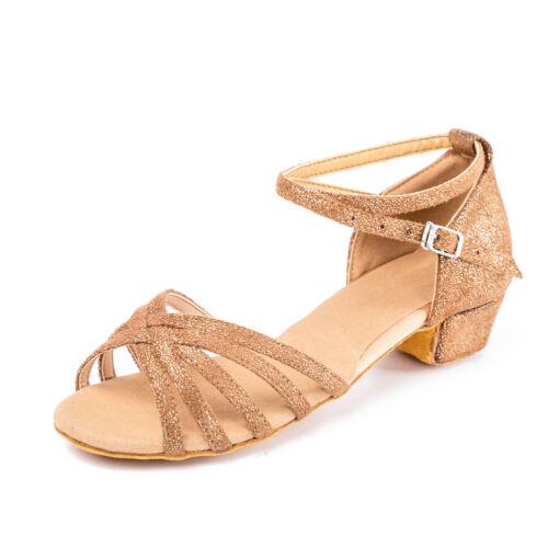 Ballroom Brand New heeled Salsa tango latin dance shoes for children girl women