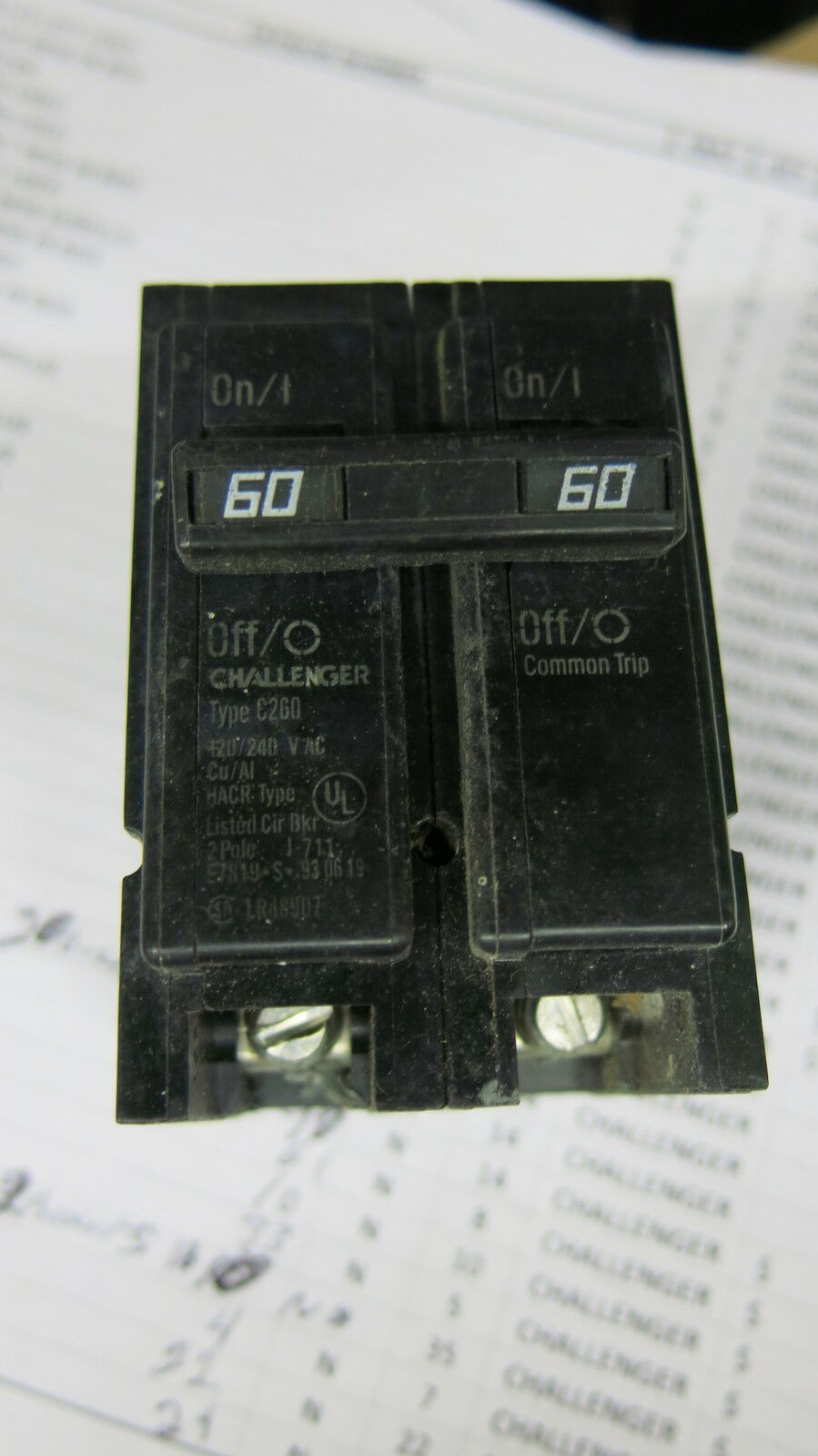 1973 Dodge Dart Fuse Box Challenger Home Schematics Diagram 60 Amp 2 Pole Circuit Breaker C260 Ebay