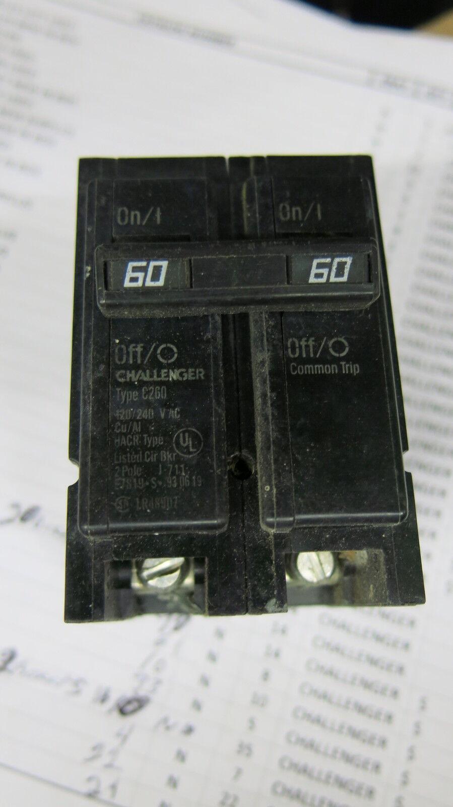 Challenger Home Fuse Box Schematics Diagram 1973 Dodge Dart 60 Amp 2 Pole Circuit Breaker C260 Ebay