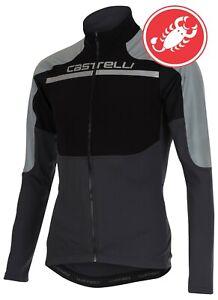 Castelli-Secondo-Strato-Reflex-Men-039-s-Long-Sleeve-Cycling-Jersey-NEW-Extra-HiViz