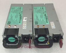 2x Stück LOT HP 490594-001 HSTNS-PL11 PSU Server Netzteil 1200W Power Supply