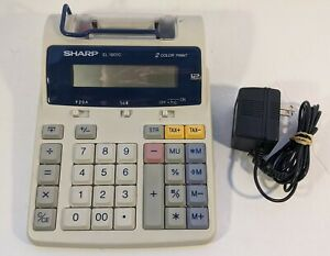 Sharp EL-1801C Scientific Calculator 2 Color Print 12 Digit - Tested and Cleaned