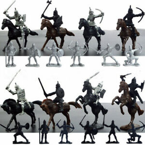 28pcs-Medieval-Knights-Horses-Soldiers-Figures-Model-Playset-Kid-Toy-Castle-Game
