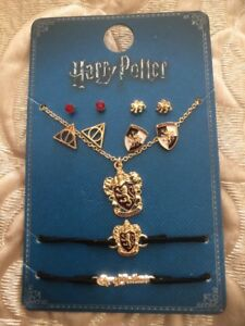 Image Is Loading Official Harry Potter Gryffindor House Jewellery Set Earrings