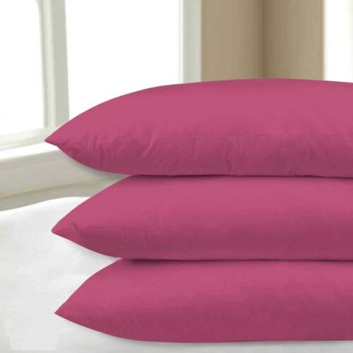 2X Pillow Case Luxury Fine Poly Cotton Housewife Pair Pack Pillows Cover Case
