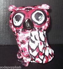 "OWL PALS Communication Red Black White Bird 2007 Plush Stuffed Animal Toy 5"""
