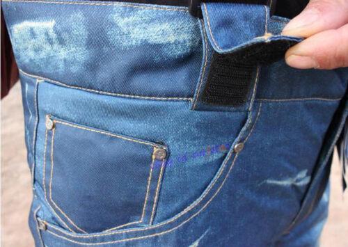 2019 New Mens Ski Snow Pants Denim Thick Warm Waterproof Outdoor Snowboard Jeans