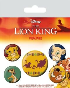 c40bcb30d7e Disney Official Lion King Hakuna Matata Set Of 5 Badge Pack Pin ...