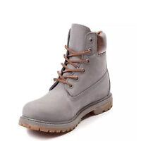 Timberland 6 Inch Premium Waterproof Grey Metallic Women's Boots A1jg8