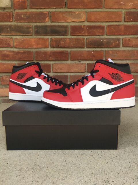Nike Air Jordan 1 Mid Chicago Toe(554724-069) Size 9.5 MENS Brand New