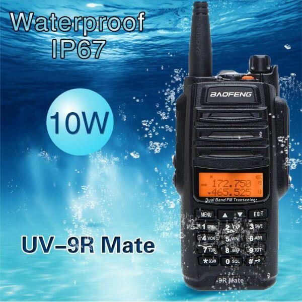 BAOFENG UV-9R MATE 10W VHF UHF WALKIE TALKIE RADIO DE MANO DE DOBLE BANDA DE DOS VÍAS EE. UU.