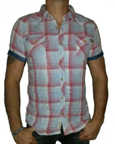 Poolman Jeans Camicia Maniche Corte 1501620 blue//red shirt