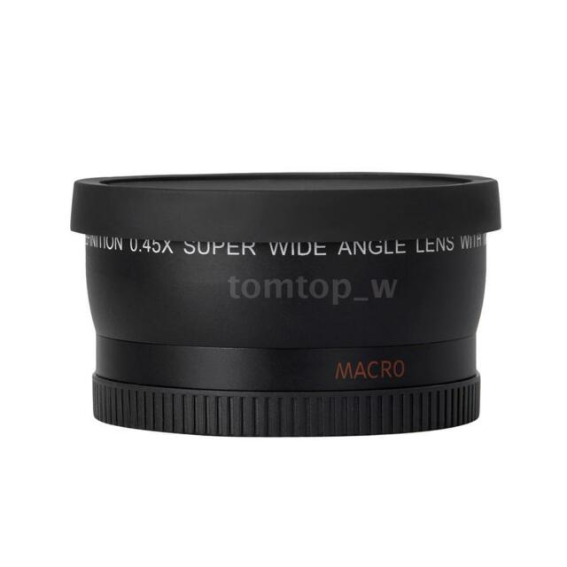 HD 52MM 0.45x Wide Angle Lens with Macro Lens for Canon Nikon  Pentax Q0T6