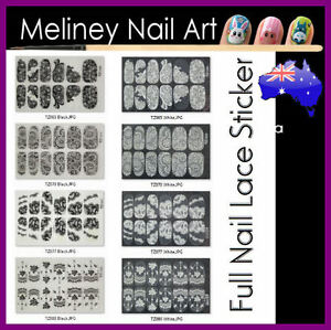 Lace-Full-Nail-Art-Wraps-Stickers-Manicure-Pedicure-Party-Flower-Wedding
