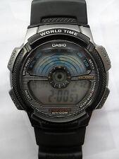 Reloj de Pulsera Casio Ae 1100W Hora Mundial Reloj Digital Alarma Crono Luz Cronómetro