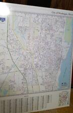48x36 Campaign School Driving Foam Board Wet Erase Marker Waukegan Il Street Map