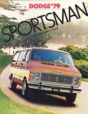 1979 Dodge Sportsman Wagon B100 B200 B300 Dealer Sales Brochure