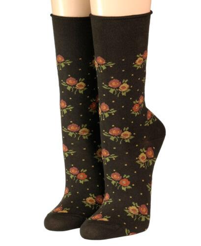 Crönert longsocks de Socquettes avec rollrand Design Litière fleurs 18827