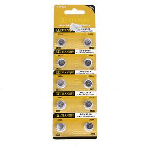 10x-Knopfzelle-UhrenBatterie-1-5V-AG3-392A-LR41-SR41-392-SR41SW