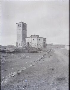 ESPAGNE-Segovie-Eglise-de-la-Vera-Cruz-c1900-NEGATIF-Photo-Plaque-Verre-VR9L1n1