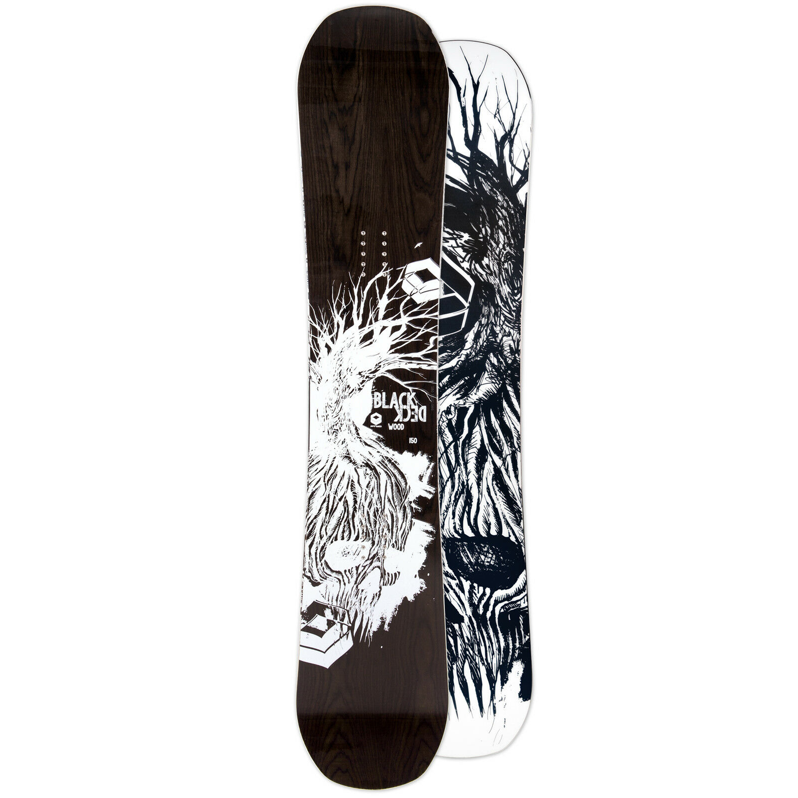 Ftwo Hombre Freestyle Snowboard Cubierta Negra Wood 2019 150cm Doble Camber