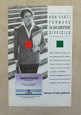 D861- Advertising Pubblicità -1991- GASTRONORM , UNA BUSTINA QUANDO SERVE