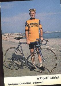 MICHAEL-WRIGHT-Cyclisme-cp-70s-IJSBOERKE-COLNAGO-Cycling-ciclismo-wielrennen