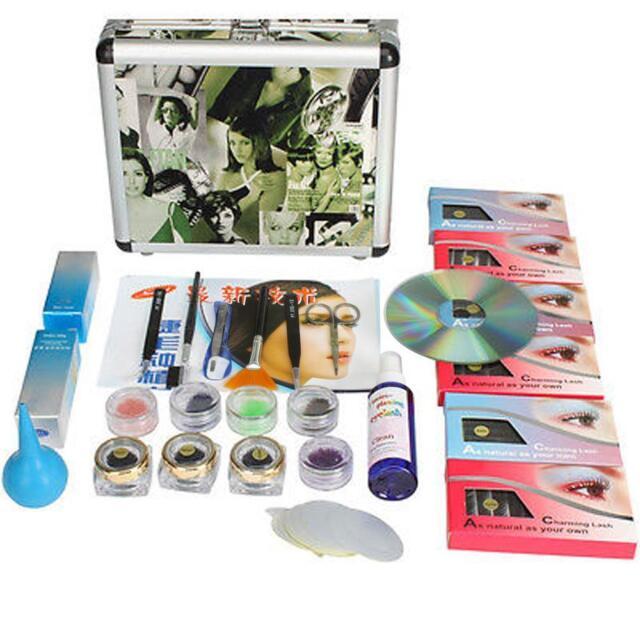 Fashion Eye Lash False Eyelashes Extension Kit Full Set Case Eye Lash Salon