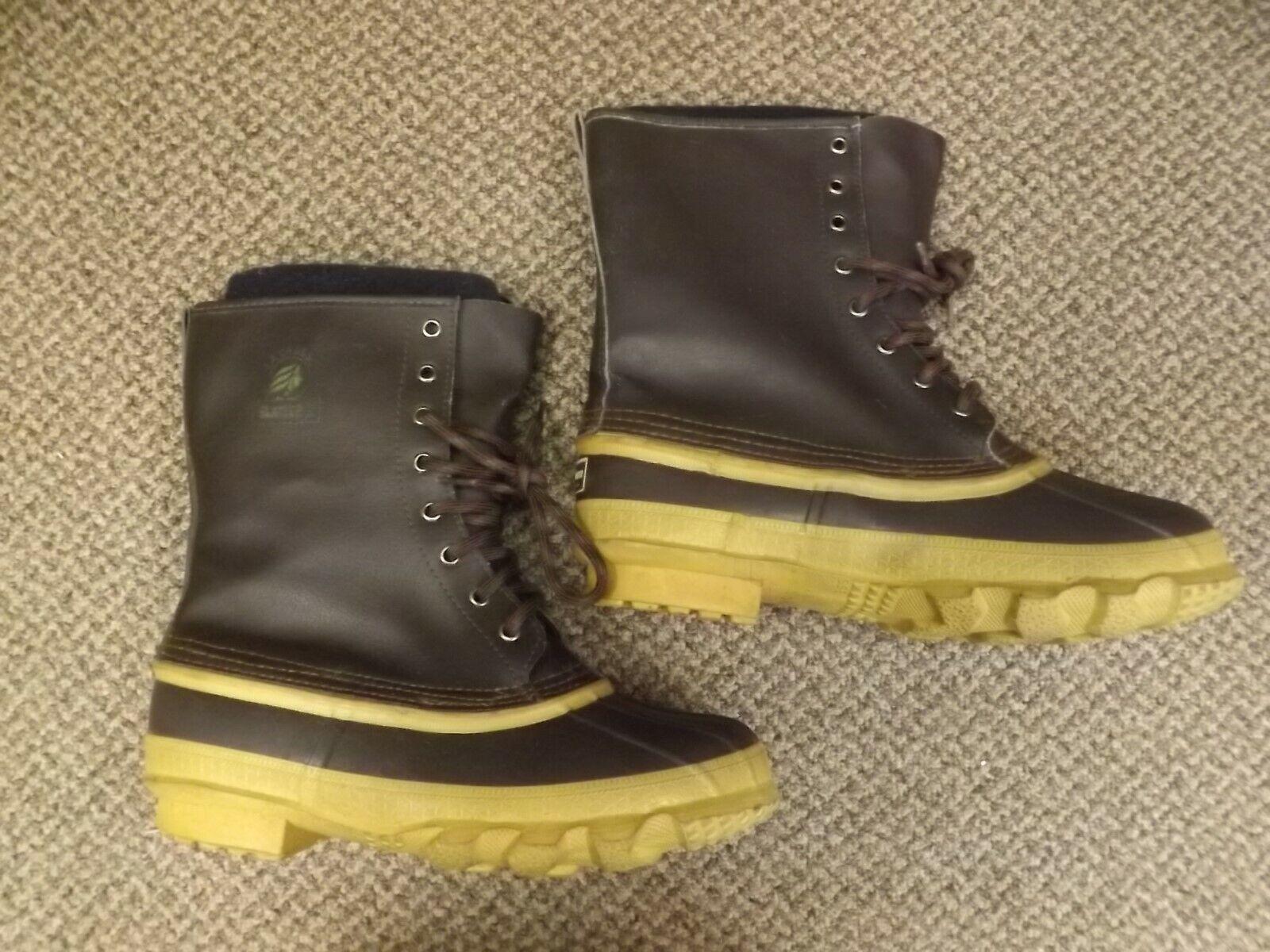 USA made Vintage 1990s nuevo Lacrosse glaciar II Forro Desmontable Cuero botas Hombre 9