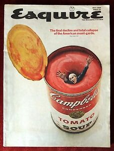 esquire magazine may 1969 issue andy warhol campbells soup can on cover