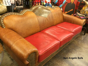 Awesome Details About Tooled Handcut 100 Top Grain Leather San Angelo Sofa Made In Usa Gamerscity Chair Design For Home Gamerscityorg