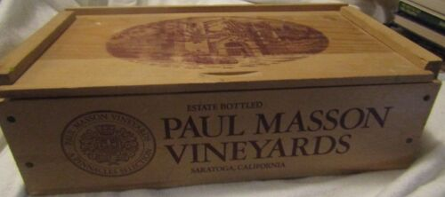 Vintage PAUL MASSON VINEYARDS Advertising Wooden Box Very Nice for Decoration