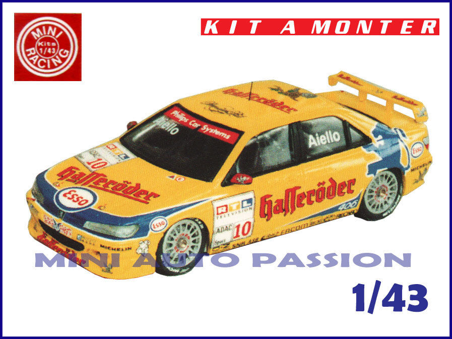 Kit Mini Racing - Peugeot 406 - Halleroder - STW 1997 - Echelle 1 43 - ref 0285