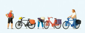 Preiser-10659-H0-Figurines-034-Cyclists-Standing-034-New-Original-Packaging