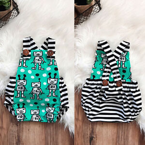 51e216271 Infant Newborn Baby Boy Girl Romper Jumpsuit Summer Clothes Outfit ...