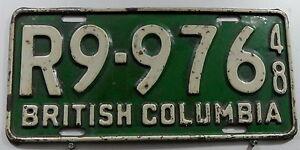 Oldie-Nummernschild-Canada-aus-British-Columbia-von-1948-13316