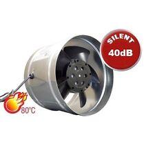 """Extractor De Chimenea Ventilador 150mm/6"""" estufas de conductos Ventilador de metal forro de la gripe W del ventilador"""