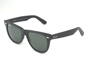 3f00954dcd Ray-Ban Polarized Wayfarer Rb2140 58 54mm Classic Green Lens Black Frame