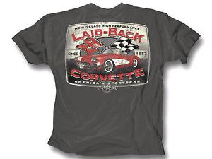 Corvette T-Shirt C1 America/'s Sports Car Laid Back Charcoal
