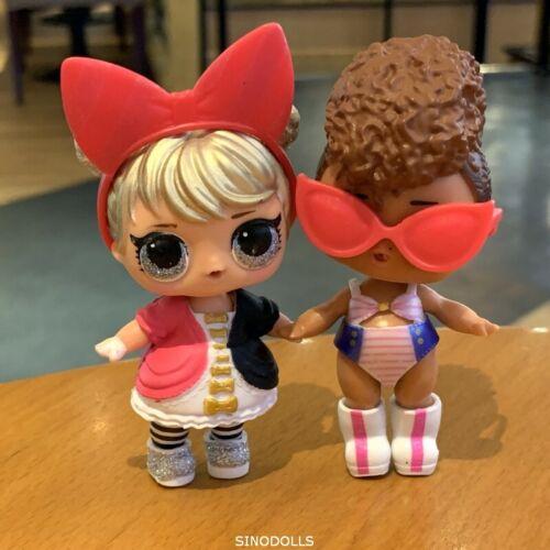 Lot 2X Lol Surprise L.O.L Dolls Glam Glitter Curious QT /& Rip Tide Toy Gift