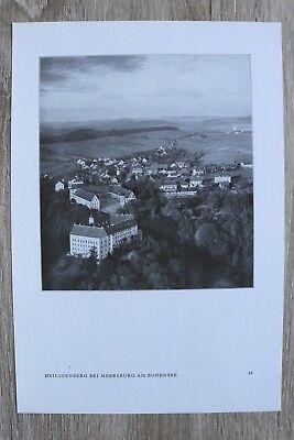 Blatt Luftbild 1930er Meersburg A Bodensee Heiligenberg Ortsansicht Häuser Exzellente QualitäT Baden-württemberg Deutschland
