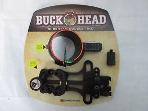 Cobra-Archery-Buckhead-Double-Tine-Single-1-pin-sight-slider-black-C-702BLK