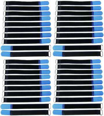 Shop For Cheap 40 Klettbänder Kabelklett 200 X 20mm Blau Kabel Klett Band Kabelbinder Klettband Agreeable To Taste Cables & Interconnects