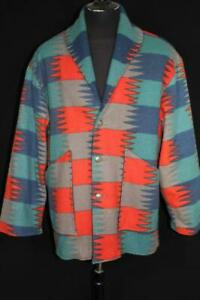 RARE-VINTAGE-1980-039-S-RANCHO-DELUXE-WOOL-BLANKET-MOTIF-JACKET-SIZE-XX-LARGE