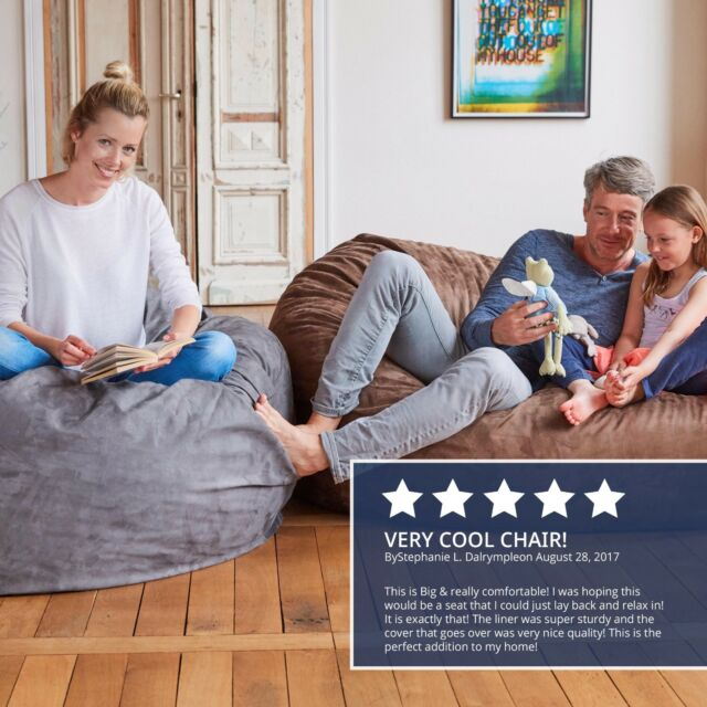 Pleasing Foam Filled Bean Bag Small Large Giant Seat Chair Sofa Couch Sleeper Lounger Creativecarmelina Interior Chair Design Creativecarmelinacom