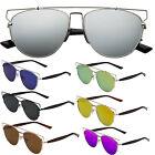 Flat Metal Top Bar So Technologic Mirrored Lens Aviator Womens Sunglasses Future