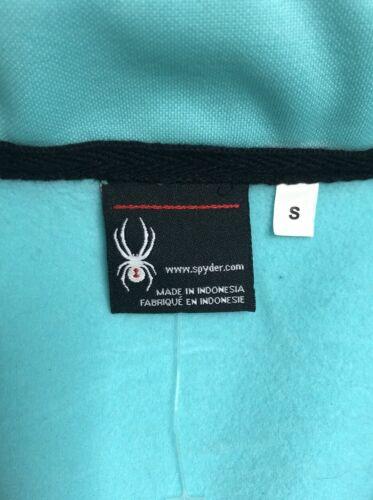 NEW Womens Spyder Allure Mid Weight Full Zip Jacket Aqua Sky Black Size S M L