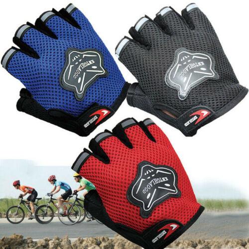 Men Women Children Outdoor Bicycle Cycling Glove Sport Half Finger Mesh Gloves