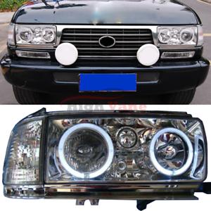 2pcs LED Headlights Fit For Toyota Land Cruiser FJ80 LC80